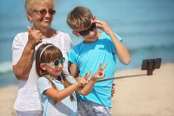 stelzer law wills estates inheritance grandma with grandkids on beach